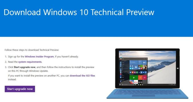 Windows Insider - Download Windows 10 Technical Preview