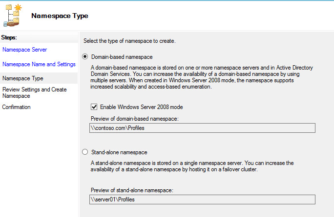 Creating a Roaming Profiles Share in Windows Server 2012 R2