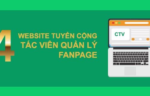 Top 4 website tuyển dụng cộng tác viên quản lý fanpage uy tín chất lượng nhất