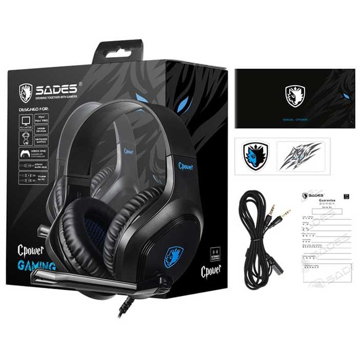 Gaming headset ακουστικα ps4 SADES Cpower SA-716-BL, PS4, Xbox One, Nintendo Switch, VR, PC