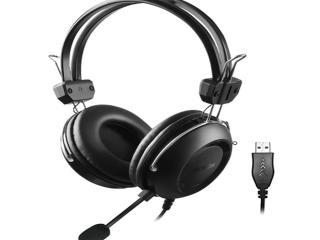 A4TECH USB GAMING Ακουστικα υπολογιστη με μικρόφωνο ανω λιοσια καματερο eshop