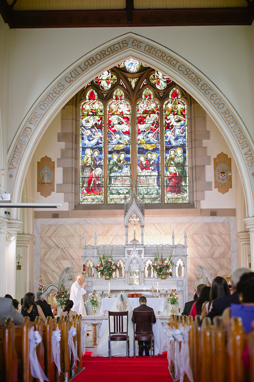 Le Montage Wedding  St Thomas Becket Catholic Church Lewisham  Vincent Lai Photography