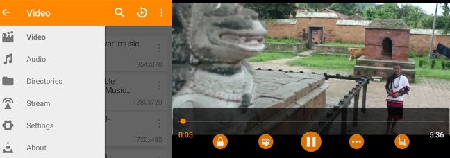 VLC App For Android Screenshot
