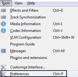 VLC Tools Preferences