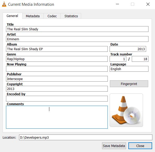 How to View and Edit ID3 Audio Tags Using VLC
