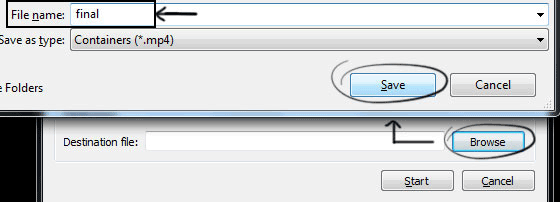 Convert Video File Format using VLC Media Player