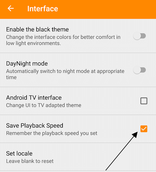 Save Playback Speed as Default