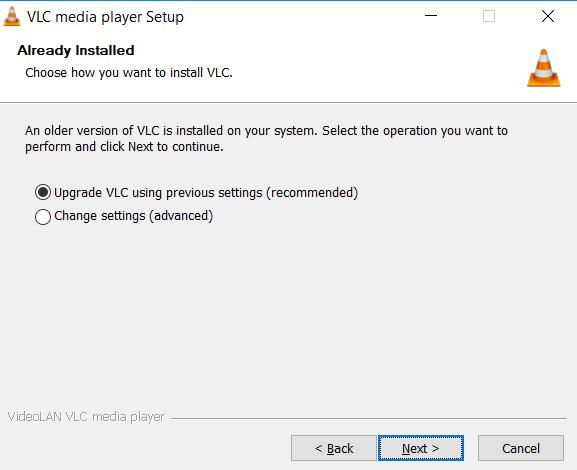 Upgrade Install Options