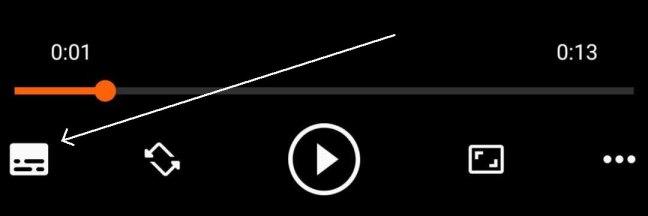 Subtitle Button in VLC Controls