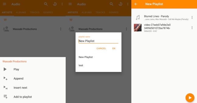 Playlists in VLC Android