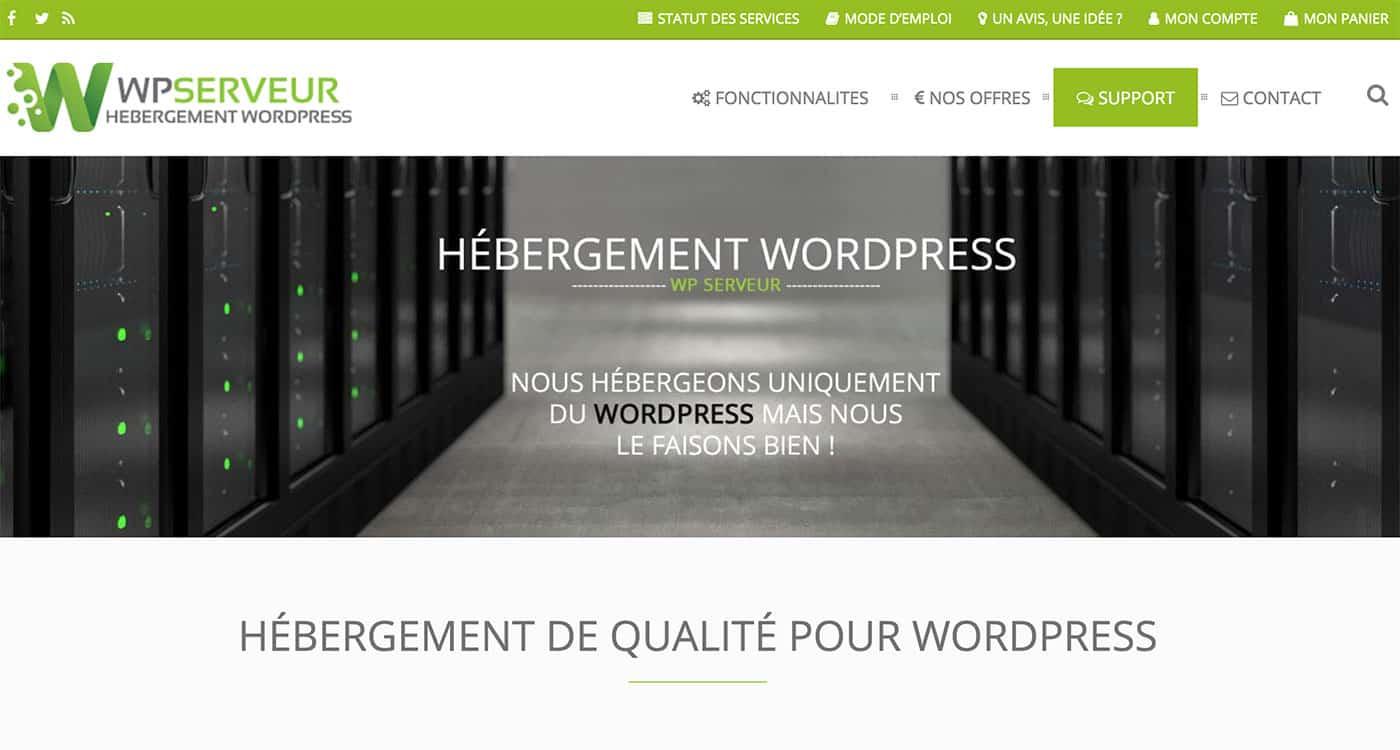 Hébergement dédié pour WordPress