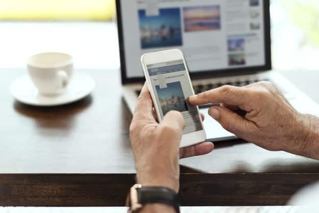elderly man is using mobile phone 53876 30130