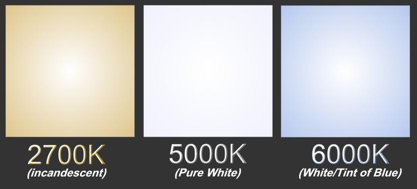 Kelvin Color Chart Light Bulbs