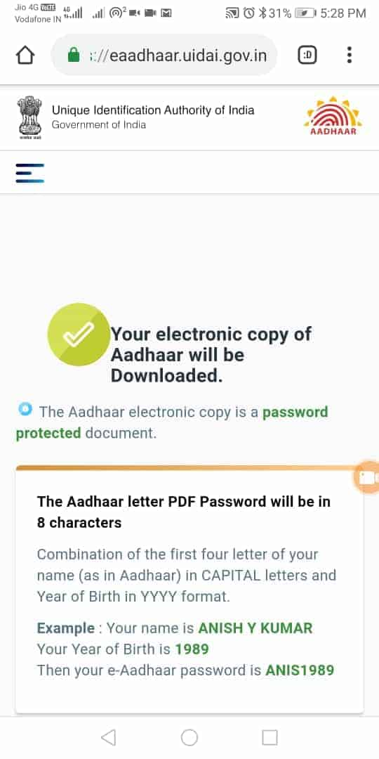 How to download aadhaar using face without otp