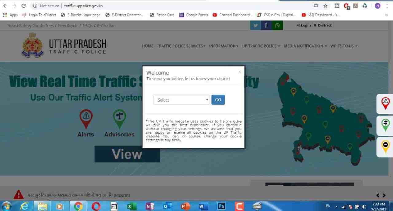 how to pay traffic challan online vle society