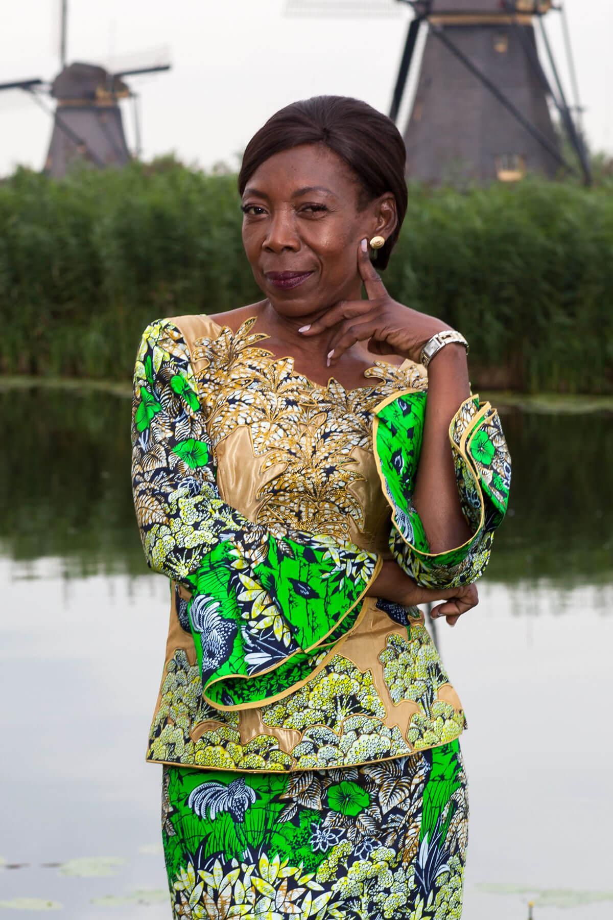 Vlisco Ambassador Marie Kazadi