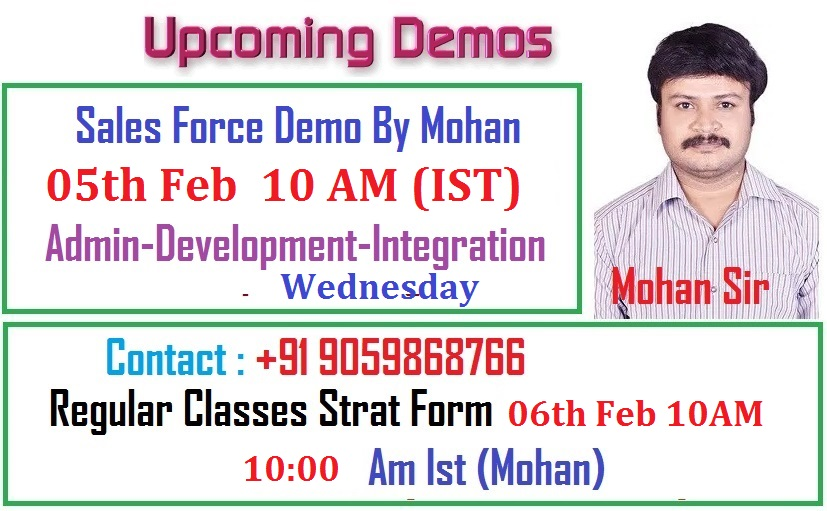 Sales force demo 5th feb 2020 wednesday