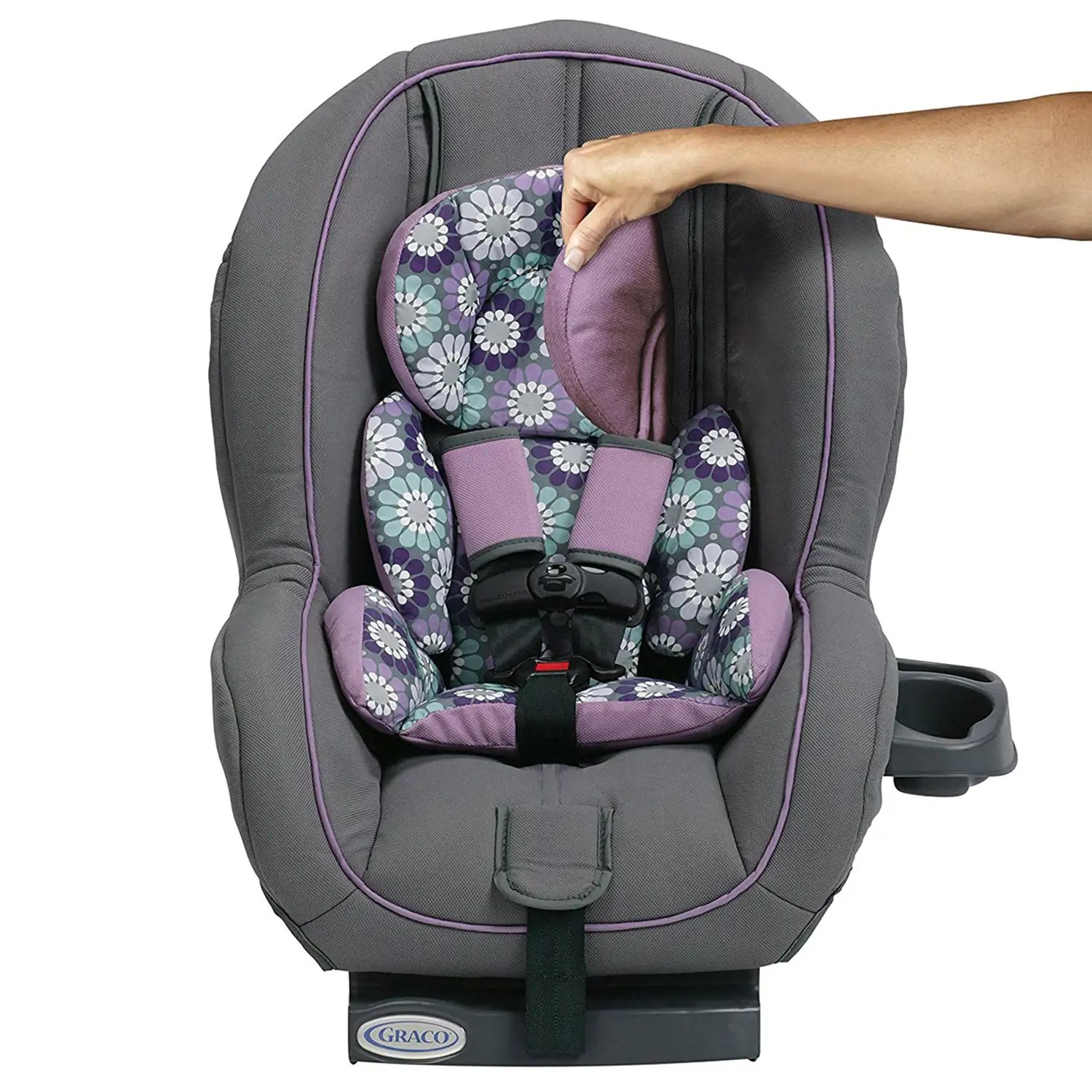 car seat desk chair conversion floral arm graco ready ride rear forward facing 5 point harness