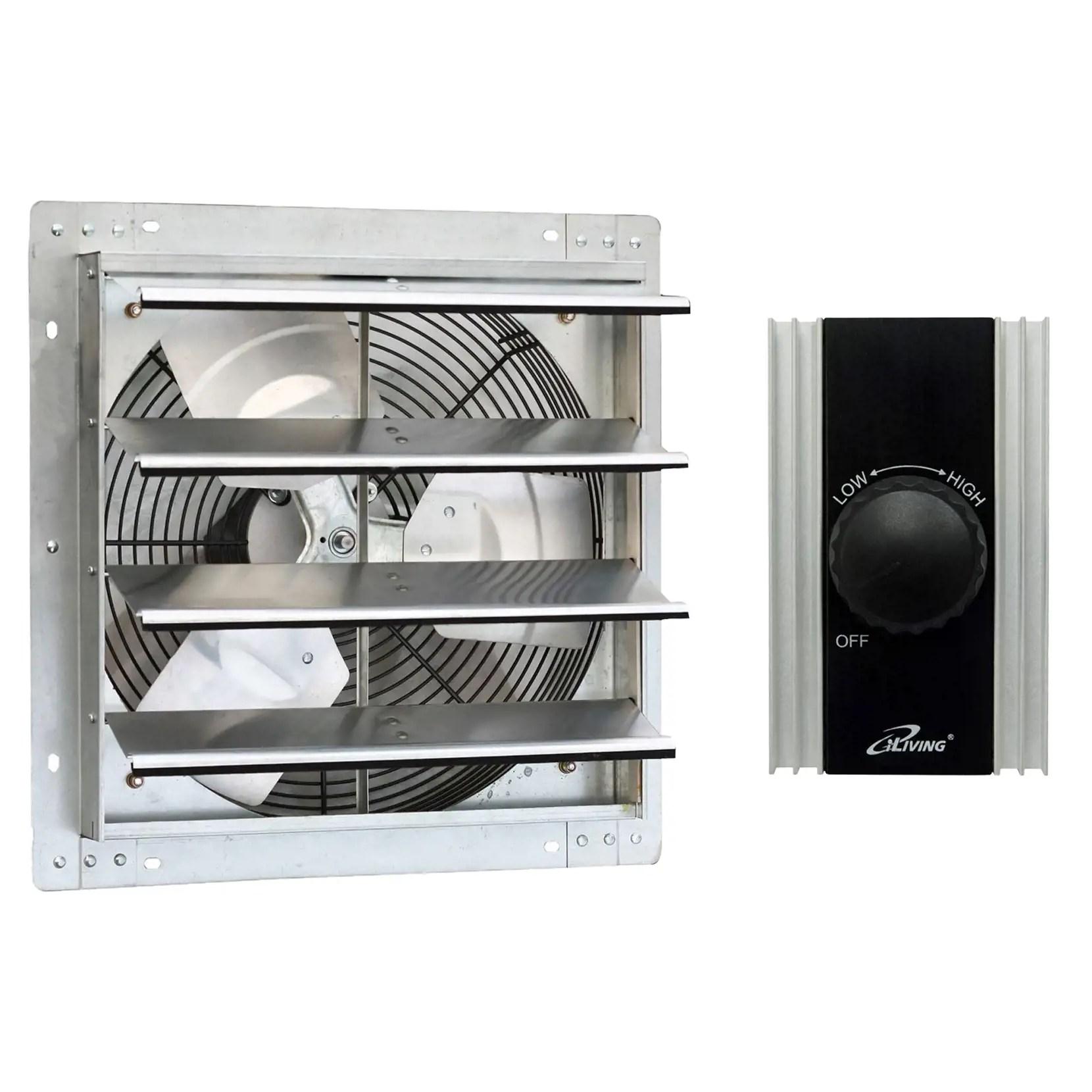 iliving 16 inch variable speed wall mounted steel shutter exhaust fan fan speed controller 120v 8a