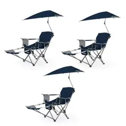 super brella chair hanging bed sport vminnovations com umbrella recliner folding blue 3 pack