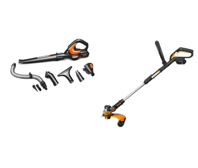 Worx WG175 with WG575 Cordless Grass Trimmer/Edger/Blower