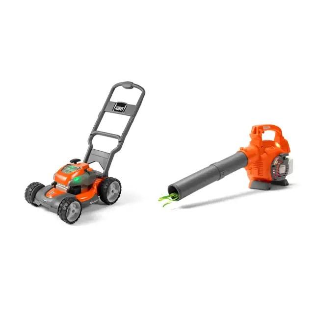 Husqvarna Battery Powered Kids Toy Lawn Mower + Toy Leaf