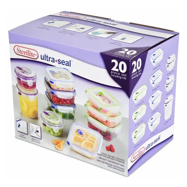 Sterilite UltraSeal Food Storage Container 20Piece Set
