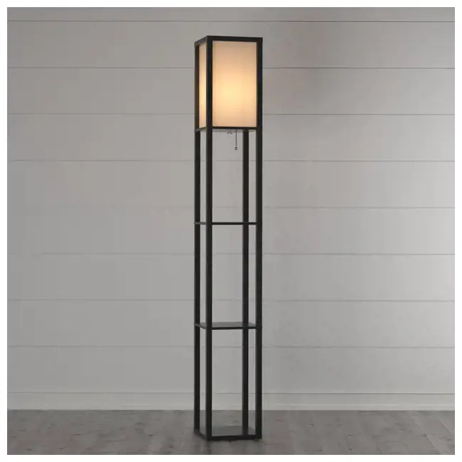 Adesso Home Titan 72Inch Modern Column Floor Lamp with 3