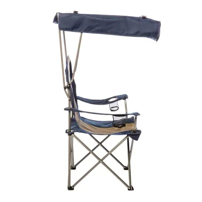 KampRite Camping Sun Shade Canopy Folding Lawn Chair