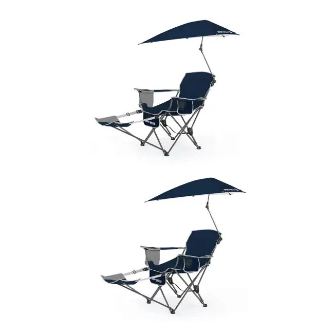 sport folding chairs wedding chair covers wholesale uk brella umbrella recliner blue 2 pack bre03 615 01