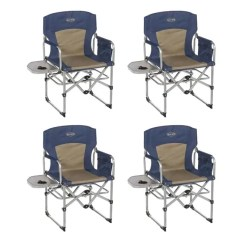 Camping Chairs With Side Table Microfiber Dining Kamp Rite Compact Folding Outdoor Director S Chair 4 X Cc403