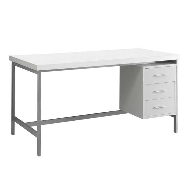 Monarch Specialties 60Inch Computer Desk with Drawers