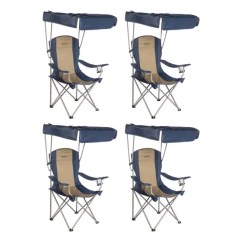 Lawn Chair With Canopy Gray Tufted Kamp Rite Camping Sun Shade Folding 4 Pack X Cc463