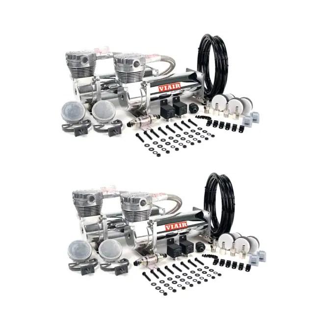 VIAIR Dual 12-Volt 200-PSI Chrome Air Compressor Kit Value