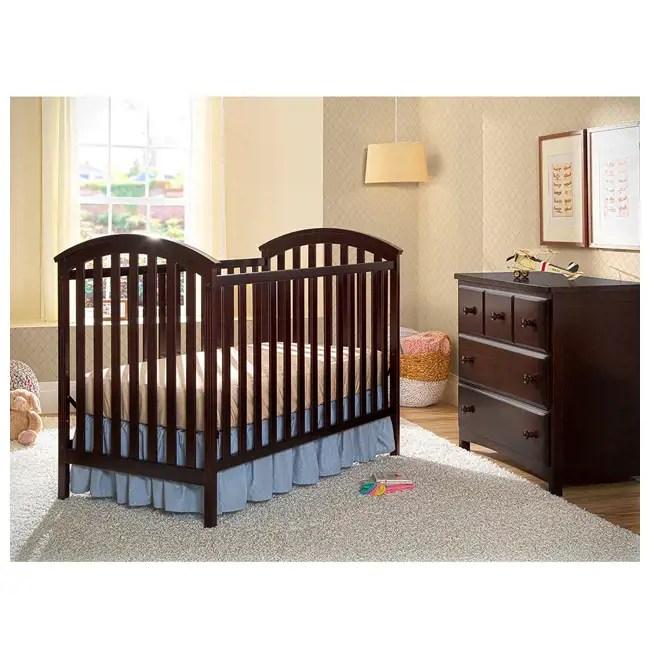 Delta Children Arbour 3-in-1 Convertible Crib Dark Brown ...
