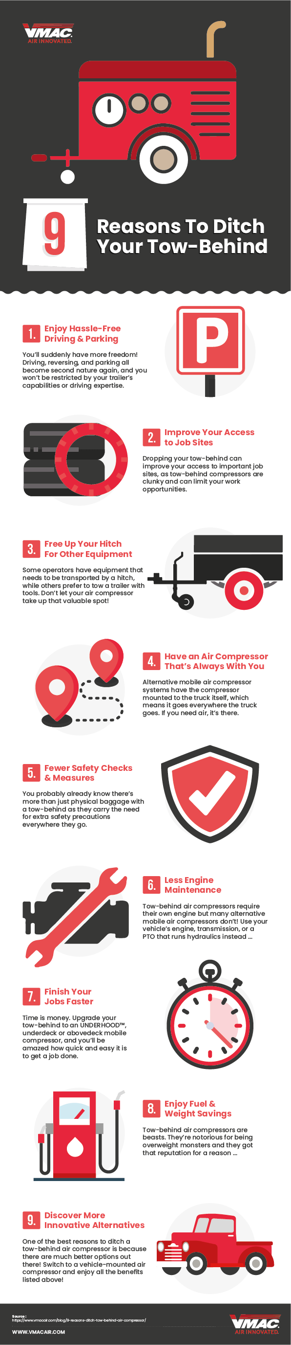 medium resolution of reasons to ditch your tow behind infographic