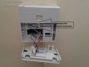 Moving BT Infinity DSL from Master Socket to Any Household
