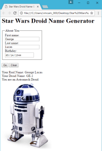 George Lucas a.k.a GE-1