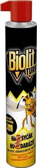 Biolit Turbo Ha-syčák na vosy sprej 500 ml - VMD drogerie a parfumerie