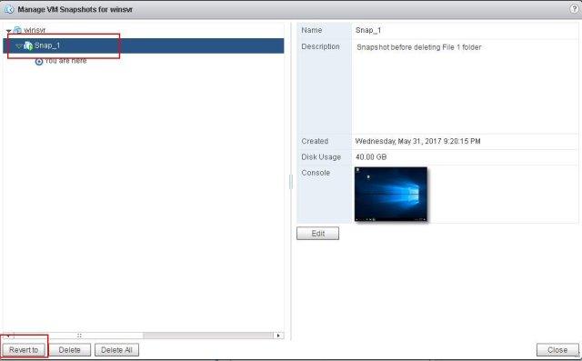 Reverting VMware Snapshots_5