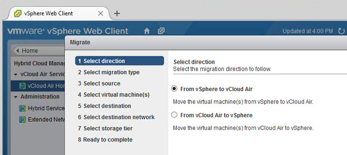 workload migrate options