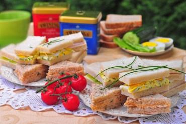čajové sendviče