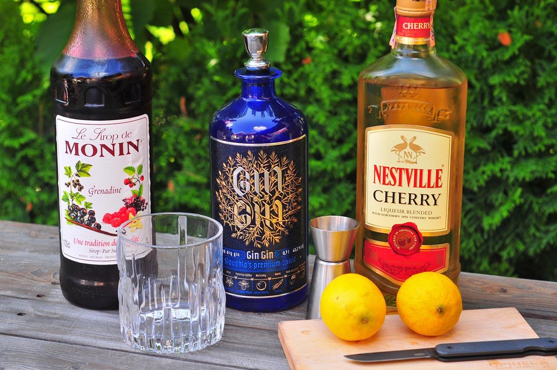 gin nestville cherry monin