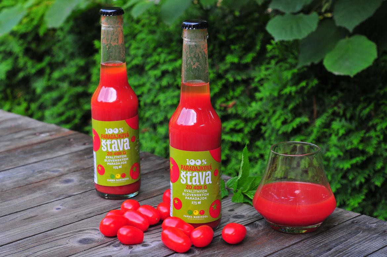 paradajková račinová šťava babindol