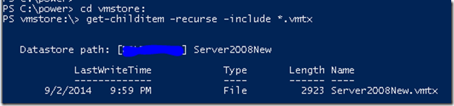 PowerCLI Template Search
