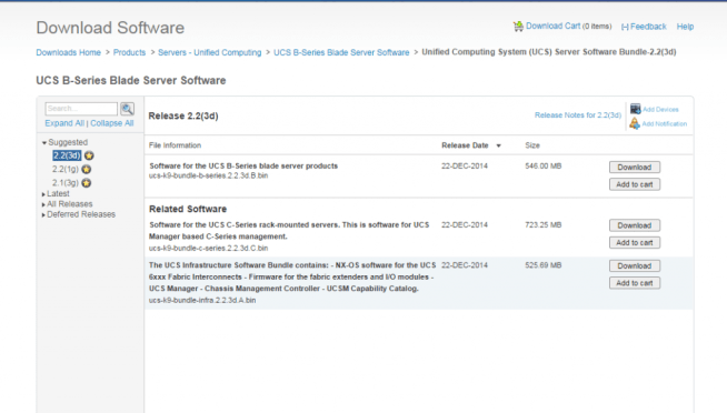 cisco ucs download software package