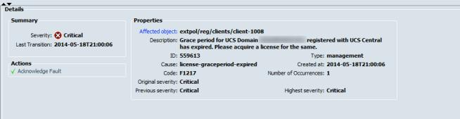 cisc ucs planning fault check critical