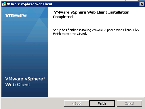 vCenter Upgrade Web-Client Upgrade Step 12