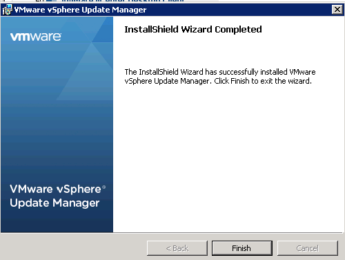 vCenter Update Manager installation Step 14