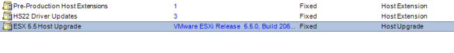 Update Manager ESXi Release version